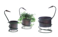 Creative CoOp DA1149 Metal Planters with Hoses Set >>> Details can be found by clicking on the image.