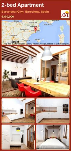 Apartment for Sale in Barcelona (City), Barcelona, Spain with 2 bedrooms - A Spanish Life Barcelona City, Barcelona Spain, Bilbao, Toulouse, 2 Bedroom Apartment, Wooden Art, Double Bedroom, Apartments For Sale, New Kitchen