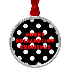 Customizable Template Polka Dot Ornament