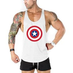 Stringer Tank Top Men Bodybuilding Clothing Fitness Mens Sleeveless Shirt Vests Cotton Singlets Muscle Tops Size M Color Bodybuilding For Beginners, Bodybuilding Workouts, Men's Bodybuilding, Male Logo, Sixpack Boys, Mens Sleeveless Shirts, Six Pack Abs Men, Stringer Tank Top, Muscle