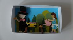 """illusion in a box: the teaparty"" #paperart https://www.facebook.com/1flyingdutch/"
