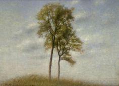 Hammershoi, Vilhelm 'Young Oak Trees' 1907