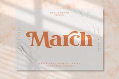 Wow picks! The March Font Is A Modern And Clean Display Serif Font at €4.30 Choose your wows. 🐕 #Modern #Illustration #Design #Sign #Background #Graphic #Roughfont #Family #Typography #Vector Modern Serif Fonts, Modern Logo, Ipad, Font Setting, Lettering, Premium Fonts, New Fonts, Script Fonts, Print Templates