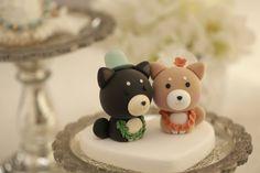 Custom Shiba Inu Wedding Cake Topper dogs cake topper by kikuike