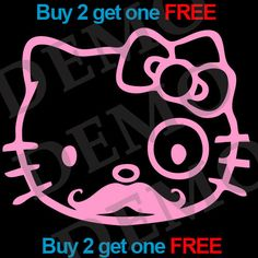 Hello Kitty Mystery 5x5 by VinylKC on Etsy, $3.99