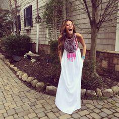My boho prom dress