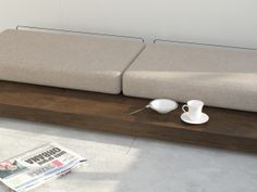 A piece of low furniture for those who do not like traditional chairs and tables.