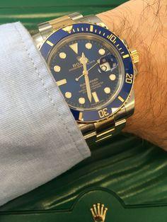 Rolex Submariner Steel & Gold Blue 116613LB