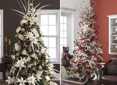 Check out these 20 gorgeous Christmas tree ideas #christmas #trees