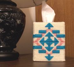 Boutique Tissue Box Cover  Southwest Painted Desert by gailscrafts, $15.00