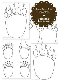 Printable Bear Paw Prints Template