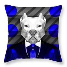Abstract Pitbull Throw Pillow by Filip Aleksandrov Geometric Print Pillow Animal Print Pillow