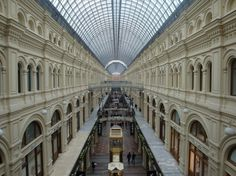 ГУМ Department Store, Moscow. Vastly different than the malls in America.