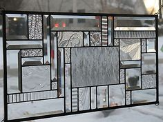 Study-in-Clears-Large-Stained-Glass-Window-Panel-NR 12.5 x 24.5