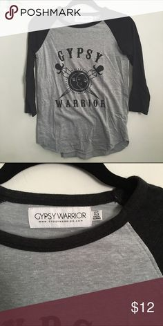 Gypsy Warrior Shirt Gypsy Warrior graphic tee || soft, thin material || quarter sleeves || brand is Gypsy Warrior, purchased from PacSun PacSun Tops Tees - Long Sleeve