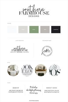 Southern Farmhouse Designs   branding + website design by Kory Woodard