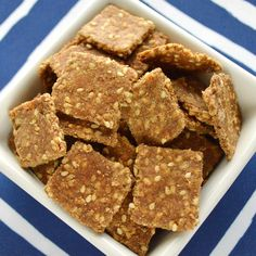 Sesame Whole Wheat Crackers Recipe Whole Wheat Crackers Recipe, Pork Recipes, Cooking Recipes, Food Categories, Savory Snacks, Soups And Stews, Virgin Oil, Recipe Share, Cooking School