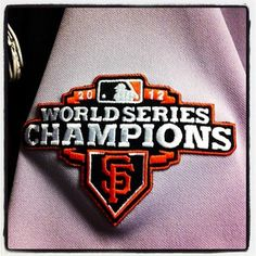 The 2013 #SFGiants will wear this patch throughout the season as the defending World Champions