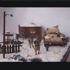 Kovel 1944 PART1 scale: 1:35  By: Andrew Bloschinsky From: diorama.ru  #scalemodel #plastimodelismo #miniatura #miniature #miniatur #hobby #diorama #humvee #scalemodelkit #plastickits #usinadoskits #udk #maqueta #maquette #modelismo #modelism