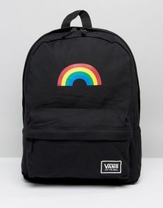 Buy Vans Rainbow Backpack In Black at ASOS. With free delivery and return options (Ts&Cs apply), online shopping has never been so easy. Get the latest trends with ASOS now. Mochila Jansport, Vans Mochila, Cute Backpacks For School, Cute Mini Backpacks, Trendy Backpacks, Canvas Backpack, Backpack Purse, Black Backpack, Mochila Grunge