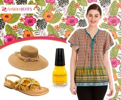 Hat, flats and quirky summer top is ready. Are you set to rock this look? #SS15 #FreeSpirit #ClubTropicana