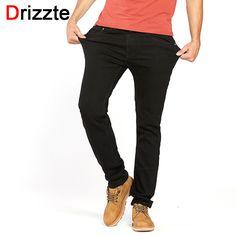 34e47b5be03 Drizzte Men s Jeans Black High Stretch Denim Brand Men Jeans Size 30 32 34  35 36 38 40 42 Pants Trousers