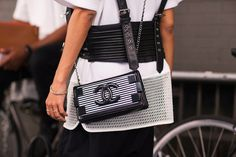 The NYFW Street Style Looks That Truly Stunned #refinery29  http://www.refinery29.com/2014/09/73987/new-york-fashion-week-2014-street-style-photos#slide31  A preppy-punk Chanel bag.
