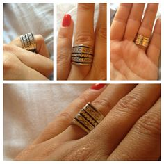 Classic silver pyramid-shaped ring