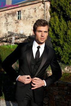 New Wedding Suits Men Groom Attire Black Tux 67 Ideas White Prom Suit, Black Suit Wedding, Wedding Men, Wedding Tuxedos, Wedding Groom, Wedding Attire, Bride Groom, Wedding Vintage, Trendy Wedding