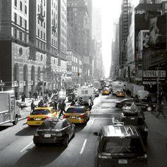 Sunset on Broadway, New York Dominique Obadia Fine Art Print Poster