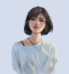 Uploaded by Jung Kyung-Soon. Find images and videos on We Heart It - the app to get lost in what you love. Digital Art Girl, Digital Portrait, Portrait Art, Cool Anime Girl, Anime Art Girl, Anime Girls, Anime Girl Drawings, Cute Drawings, Art Et Illustration