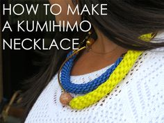 How Elle Woods would make a Kumihimo Necklace | Alonso Sobrino Hnos. Co. & Inc. Druzy Beads and Fabrics
