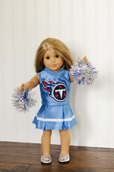 American Girl Doll NFL Tennessee Titans cheerleader outfit on Etsy, $30.00