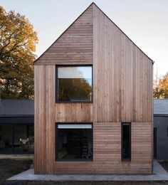 multi-directional external timber cladding. looks great!