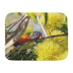 #flower - #Rainbow Lorikeet Burp Cloth