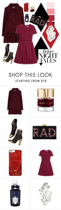 """Evening out"" by georgia-grace-sheldon ❤ liked on Polyvore featuring Opening Ceremony, Smith & Cult, Balmain, Edie Parker, Burberry and PENHALIGON'S"