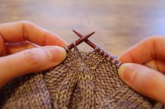 "Knitting/Crochet Tutorial: ""How to Crochet Bobbles in a Knitting Project"" - Level: intermediate."