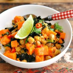 Sweet Potato, Chickpea & Cavolo Nero Coconut Curry - There's no words for a gluten free, quick & easy meal like this!