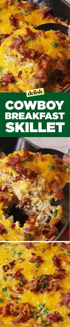 Cowboy breakfast skillet will really brighten up your morning. Get the recipe on Delish.com