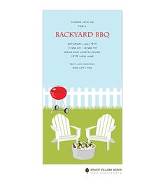 Barbecue Party Invitations- BBQ invitations NEW selections Winter 2017