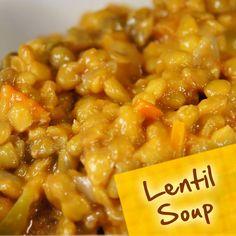 Hispanic Diabetes Recipes: Lentil Soup