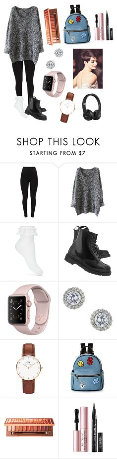"""""""Chrysanthemums outfit"""" by maialeigh on Polyvore featuring Miss Selfridge, Dr. Martens, Daniel Wellington, IMoshion, Urban Decay, Too Faced Cosmetics and Beats by Dr. Dre"""