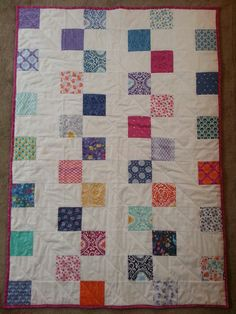 Hi Everyone! It's Jera from the studio. This quilt got lots of love at the studio so we decided to post a quick tutorial on it. It's super easy...just two simpl