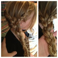 Little girls hair braid...so doing this to my 3 dauhters hair