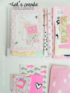 Visual journal   Happy mail - keep a  folder full of cute st