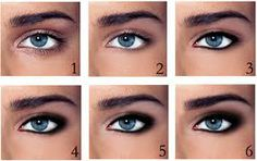 "Make-up technique ""Smokey Eyes"" is suitable for almost all girls. Particularly captivating look blue ""smoky"" eye. Smokey ice cream can Smokey Eye Guide, Smokey Eye Steps, Smoky Eyes, Eye Makeup Steps, Smokey Eye Makeup, Skin Makeup, Makeup Tips, Smokey Eyeshadow, Makeup Ideas"