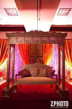 OK! It's set! I am taking this idea and making my patio indian mandap style!