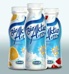 Bioaktiv- liquid yoghurt, different flavours on Behance