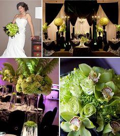 Cute Black Green Wedding Motif Casual wedding Pinterest