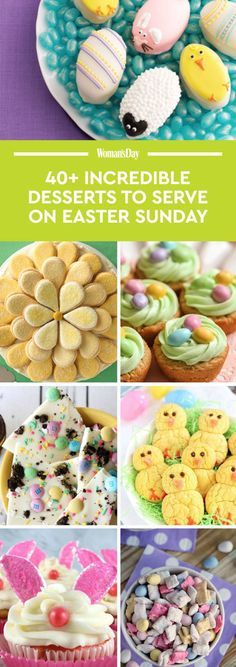 Try one of these delicious Easter Sunday desserts.